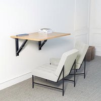 Wooden Maple Foldder Wall Mounted Folding Table