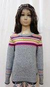 Girl Chest Jacquard Sweater