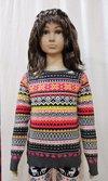 Girl Kid Allover Jacquard Sweater