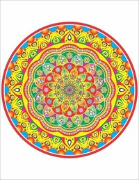 Printed Round Rangoli Label