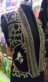 Sleeveless Embroidered Beaded Jacket