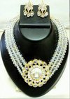 Crystal Choker Necklace Set