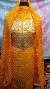 Silk Bhandej Gotta Patti Suit