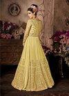 Golden Work Ladies Party Wear Gown