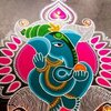 Beautiful Design Colorful Rangoli