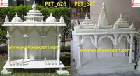 White Marble Carved Temple And Dome Mandir