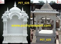 White Marble Carved Temple And Stone Mandir Dome