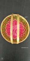 Bamboo Round Fruit Baskets With Handle