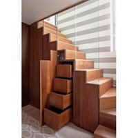 Wooden Staircase Storage Unit