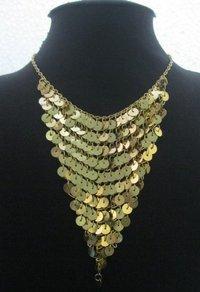 Fancy Cut Sequence Ladies Necklaces
