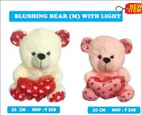 Blushing Teddy Bear With Light
