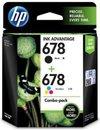 678 2-Pack Black-Tri-Color Original Ink Advantage Cartridges - L0s24aa (Hp)