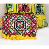 Indian Banjara Bohemian Handbags Sling Embroidery And Mirror Work With Tassels Multicolored Beautiful Clutch Bag