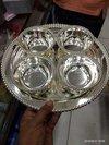 German Silver Bowls Thali Set