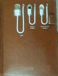 Durable Power Bank Diary (4000 Mah)
