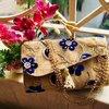 Flower Embroidery Jute Bag