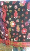 Poly Wool Shawl With Thread Work