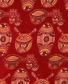 Traditional Music Instrumental Motifs Kalamkari Fabric