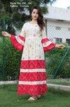 Fancy Ladies Cotton Long Gown