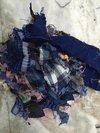 Checks Cotton Shirt Fabric Waste