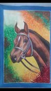 Water Colour And Poster Color Horse Painting