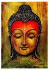 Buddha Head Painting