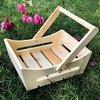 Round Shape Wooden Basket