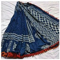 Digital Printed Dabu Saree