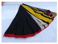 Ladies Cotton Pom Pom Sarees