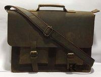 Brown Color Leather Laptop Bag