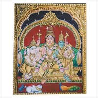 Shiva Parvati Tanjore Paintings