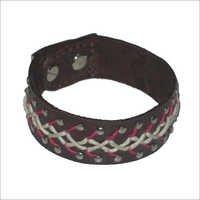 Thread Work Leather Bracelet