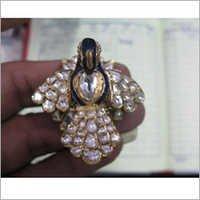 Jadau Peacock Gold Ring