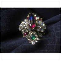 Peacock Jadau Gold Ring
