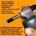 Automatic Butane Refillable Torch