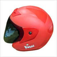 Open Face Red Helmet