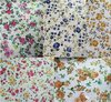 Printed Floral Glitter PU Synthetic Leather