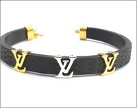Gold Black Silicone Band Bracelet