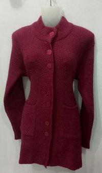 Ladies Full Sleeves Knitted Cardigan