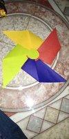 Plain Handmade Paper Pinwheel