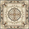 240x240cm Medallion Flower Waterjet Marble Floor Design Tiles