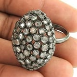 925 Sterling Silver Micro Pave CZ Ring