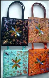 Ladies Dupion Silk Handbags