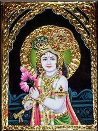 Lord Krishna Tanjore Paintings