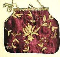 Satin Fabric Ladies Handbags