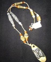 Tribal Costume Wooden Necklace