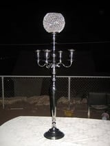 Candle Holder With Crystal Ball On Top