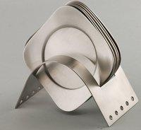 Stainless Steel Tea Coaster Set