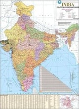 Printed India Political Map