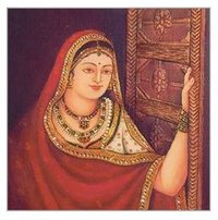 Traditional Woman Oil Painting
